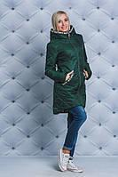 Куртка удлиненная демисезонная Love зеленая