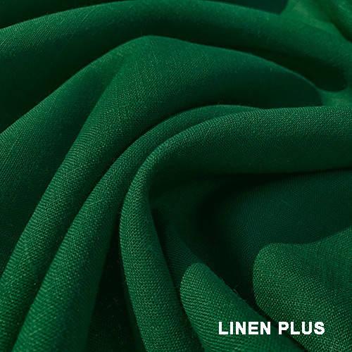 Зеленая льняная ткань 100% лен, цвет 534