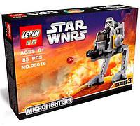Детский конструктор lepin star wars, аналог lego шагоход империи 85 предметов