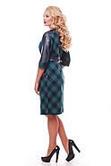 Женское красивое платье Кэтлин, цвет зеленый клетка размер 52-58 / большие размеры , фото 3