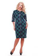 Женское красивое платье Кэтлин, цвет зеленый клетка размер 52-58 / большие размеры , фото 2