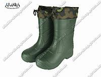 Сапоги мужские (Код: EVA-03 обшив зеленый)