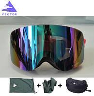 Горнолыжные / сноубордические очки (маска) VECTOR UV400 (Red)