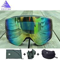 Горнолыжные / сноубордические очки (маска) VECTOR UV400 (Sky Blue)