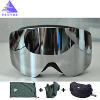 Горнолыжные / сноубордические очки (маска) VECTOR UV400 (Silver)