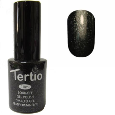 Гель-лак №054 (черно-зеленый с микроблеском) 10 мл Tertio