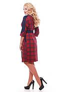 Женское красивое платье Кэтлин, цвет красная клетка размер 52-58 / большие размеры , фото 3
