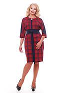 Женское красивое платье Кэтлин, цвет красная клетка размер 52-58 / большие размеры , фото 2