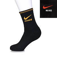 Мужские черные носки Найк дешево N-004B (10 ед. в упаковке)