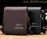 Мужская кожаная сумка Kangaroo Kingdom + подарок (нож-кредитка)