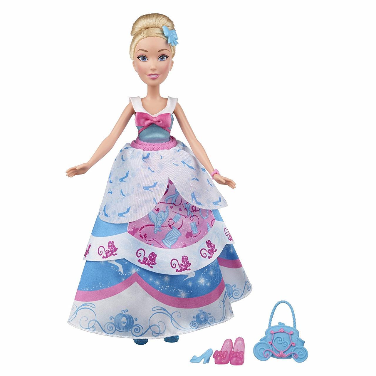 Кукла Золушка принцесса с красивыми нарядами Дисней Disney Princess Layer 'n Style Cinderella Hasbro