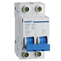 Автоматический выключатель Chint DZ47-60 2P 4,5kA C10A 187960