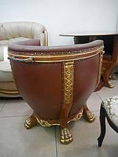 """Комплект 2 кресла и стол """"Тет-а-Тет"""" в коже, фото 3"""