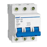 Автоматический выключатель Chint DZ47-60 3P 4,5kA C10A 187962