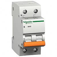Автоматичний вимикач ВА63 1П+Н 25A C 11215 Schneider Electric