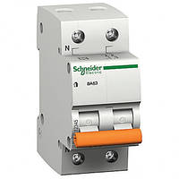 Автоматичний вимикач ВА63 1П+Н 20A C 11214 Schneider Electric