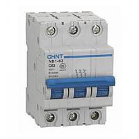 Автоматический выключатель Chint NB1-63 3P 6kA D 20A 179716