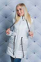 Куртка удлиненная осень-весна белая
