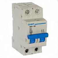 Автоматический выключатель Chint NB1-63 2P 6kA C 63A 179668