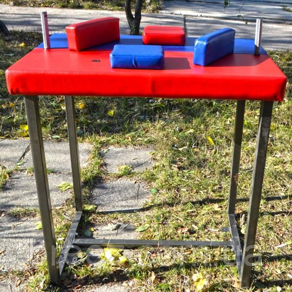 Стол для армрестлинга Троян красно-синий