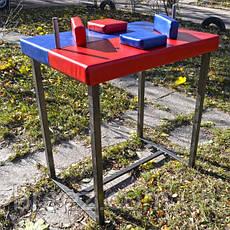 Стол для армрестлинга Троян красно-синий, фото 2