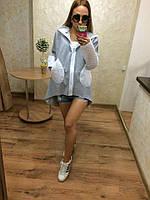 Кофта женская теплая с карманами