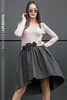 Платье маллет каскадная модель комбинированное