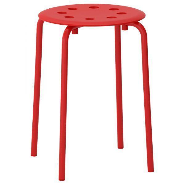 МАРИУС Табурет, красный, 00246196, ИКЕА, IKEA, MARIUS