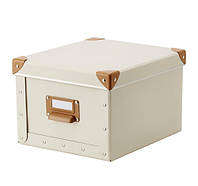 ФЬЕЛЛА Коробка с крышкой, белый с оттенком, 50292001 ИКЕА,  IKEA, FJALLA