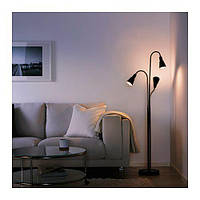 КВАРТ Светильник напольный с 3 лампами, черный, 50226025  IKEA, ИКЕА, KVART