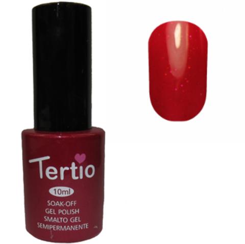 Гель-лак №092 (темно-красный с розовым микроблеском) 10 мл Tertio
