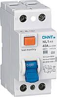 Дифференциальный выключатель нагрузки (УЗО) Chint NL1-63 2P 6KA 0.03 40A 200213