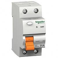 Дифференциальный выключатель нагрузки (УЗО) Schneider Electric ВД63 2п 4,5kA 0.3 25A 11451