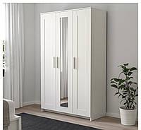 БРИМНЭС Шкаф платяной 3-дверный, белый,  70245853 ИКЕА, IKEA, BRIMNES