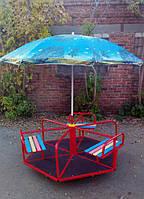 Карусель шестиместная с зонтиком