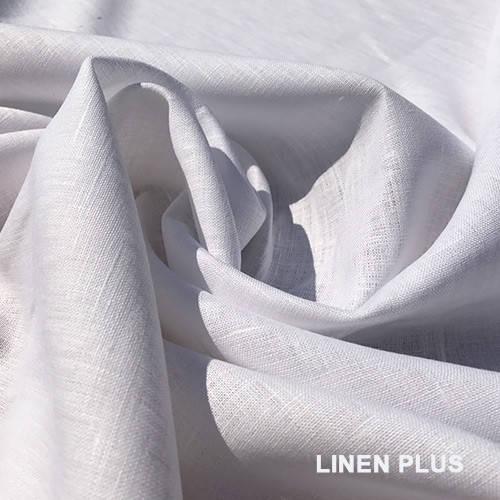 Белая льняная ткань 150ш. 145пл.