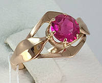 Кольцо с рубином, золото 583 пробы СССР