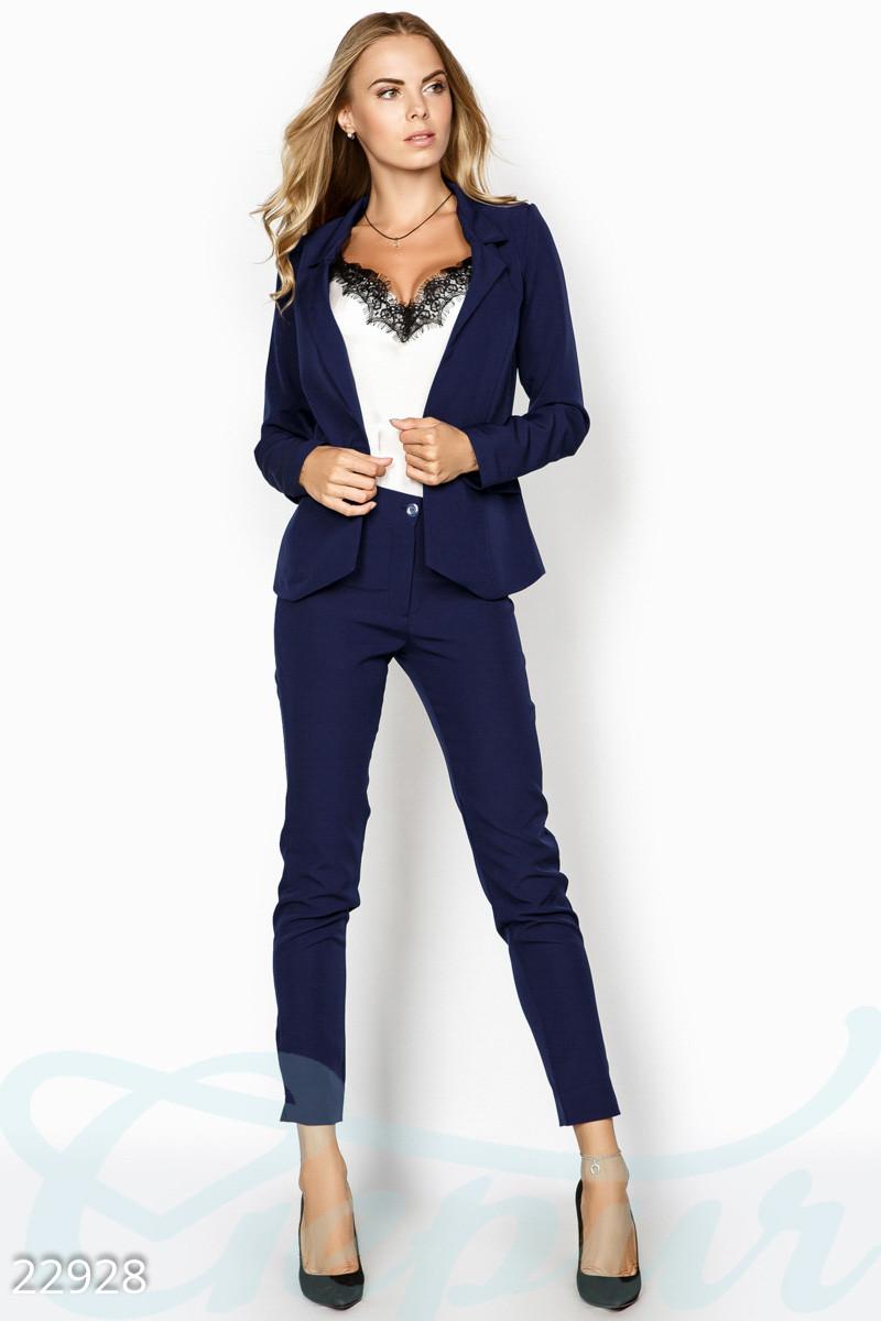 37ba57a26dc4 Женский деловой костюм. Цвет темно-синий., цена 605 грн., купить ...
