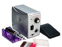 Фрезер для маникюра и педикюра Nail Drill Set ZS-701, 45000 оборотов, 60 Вт, серый металлик