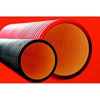 Труба жесткая двустенная для кабельной канализации DKC 12 кПа d110 (6м) красная