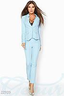 Женский деловой костюм. Цвет нежно-голубой.