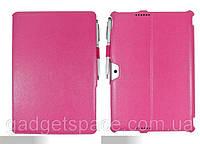 Конвертируемый розовый чехол для ASUS Memo Pad ME302KL из синтетической кожи