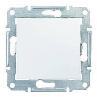 Выключатель одноклавишный SEDNA белый SDN0100121 Schneider Electric