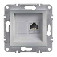 Розетка компьютерная ASFORA RJ45 cat.5e UTP алюминий EPH4300161 Schneider Electric