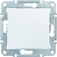 Переключатель одноклавишный SEDNA белый SDN0400121 Schneider Electric