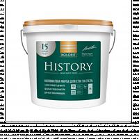 Фарба для стін та стель Kolorit History 9л (А) напівматова Біла