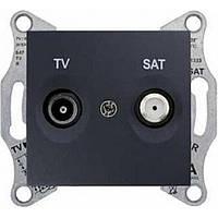 Розетка TV/SAT проходная SEDNA графит SDN3401970 Schneider Electric