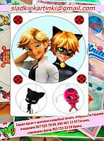 Вафельные картинки -Леди Баг и суперкот