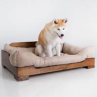 Dog Kingly Light Brown  - Королевская (деревянная кроватка для собак)
