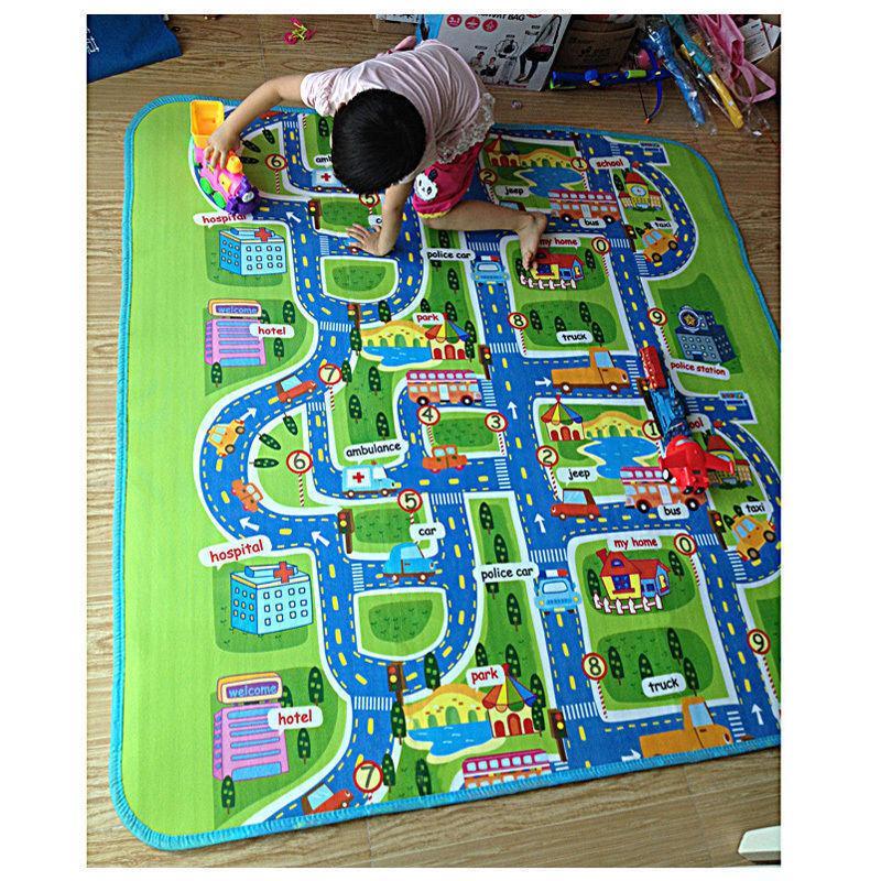 Мягкий детский коврик развивающий город дорога. 2м*1.6м